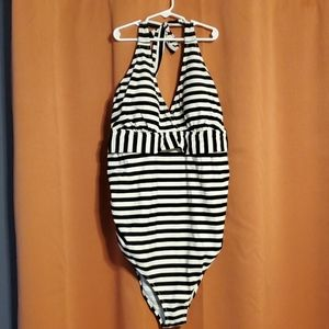 Maternity Swimsuit B&W